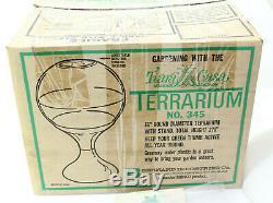 Vintage Mid Century Modern 27.5 Terrarium Tiara Casa In Box 345