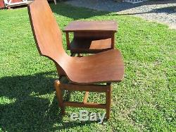 Vintage Mid Century Modern 60s Phone Table Gossip Bench Telephone Chair