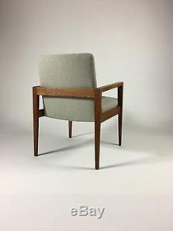 Vintage Mid Century Modern Armchair Upholstered Walnut Armchair Jens Risom