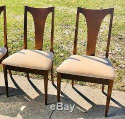 Vintage Mid Century Modern Broyhill Brasilia Dining Chairs Walnut Set Of 4