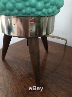 Vintage, Mid-Century Modern Bubble / Beehive Lamp, Aqua Turquoise Retro, Atomic