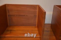 Vintage Mid-Century Modern Danish Mobler Teak Nesting End Side Tables Set of 3