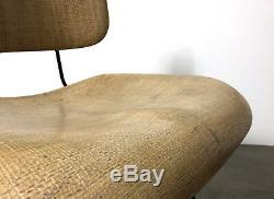Vintage Mid Century Modern Fiberglass Iron Hairpin Chair Hobart Wells Eames Era