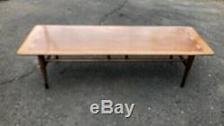 Vintage Mid Century Modern Lane Acclaim Dovetail Walnut Coffee Table Andre Bus