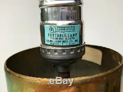 Vintage Mid Century Modern Laurel Floor Lamp with Blown Glass Diffuser Rare