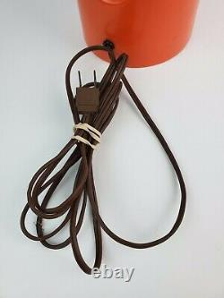 Vintage Mid-Century Modern Orange Wishbone Table Lamp Original shade Laurel