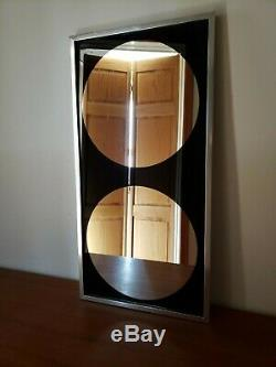 Vintage Mid Century Modern Pop Art Space Age Mirror Eames Era Acrylic Graphic