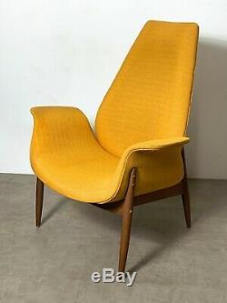Vintage Mid Century Modern Rare Arthur Umanoff Madison Tall Lounge Chair