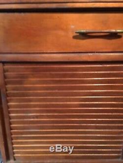 Vintage Mid Century Modern Record Cabinet Credenza LP Album Retro 1950s 1960's