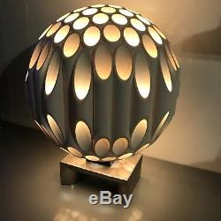 Vintage Mid Century Modern Rougier Ball Lamp