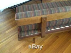 Vintage Mid Century Modern Sofa Daybed by Otto Gerdau Tapered Legs
