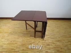 Vintage Mid Century Modern Teak Drop Leaf Dining Table 1970s