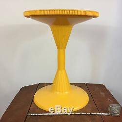 Vintage Mid Century Modern Tulip Speaker End Side Table Plant Stand Atomic Retro