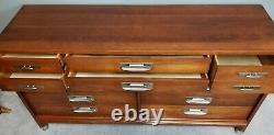 Vintage Mid Century Modern WILLETT FINE FURNITURE Solid Cherry Dresser MCM