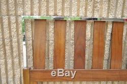 Vintage Mid Century Modern Walnut Chrome Queen Bed Headboard Danish Baughman Sty