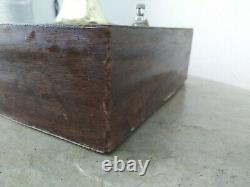 Vintage Mid Century Modern Wood Metal Chunky Lucite Acrylic Spaghetti Table Lamp