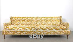 Vintage Mid Century Modern Yellow Jack Larsen Style Sofa Dunbar, Baughman Era