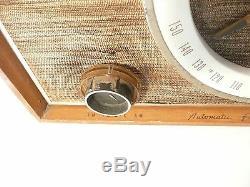 Vintage Mid-Century Modern ZENITH AM/FM RADIO -Tested Working / WOODIE Tabletop