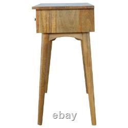 Vintage Mid Century Style Three Drawer Console Hall Table/ Desk Mid Century Legs