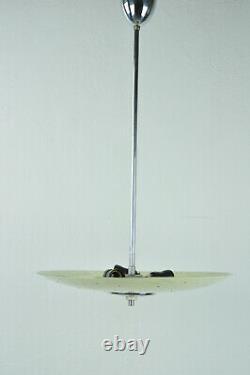 Vintage Mid Century Triangle Atomic Glass Ceiling Pendant Lamp Light Lighting