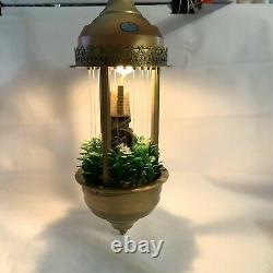 Vintage OLD GRIST MILL OIL RAIN LAMP Mid Century Modern Retro Regency 60s 70s