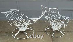 Vintage Pair Mid Century Modern Homecrest Patio Chaise Lounges