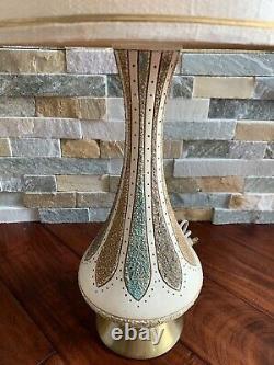 Vintage Pair Mid Century Quartite Creative Genie Bottle Table Lamp Atomic Large