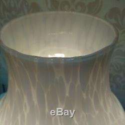Vintage Pink Mushroom Table Lamp Murano Italy Art Glass 14 Inch Mid Century