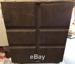 Vintage Prohibition Hidden Swivel Liquor Cabinet Box Bar Mid-Century