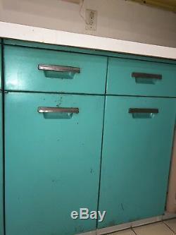 Vintage Retro Mid-Century 1950s Metal Kitchen Cabinets Original GE