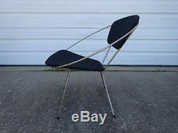 Vintage Retro Mid-Century Modern Eames Era 1950s Iron Framed Circle Hoop Chair