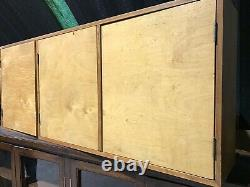 Vintage Retro Mid Century Ply Wood and Pine Cabinet Cupboard Bookcase Toy School