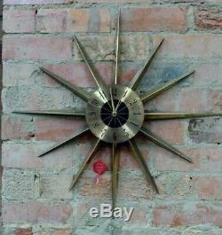 Vintage Retro Westclox Starburst Starglo Wall Clock Retro MID Century