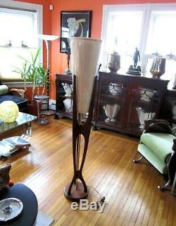 Vintage Sculptured MID Century Modern Adrian Pearsall Modeline Teak Floor Lamp