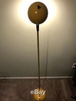 Vintage Sonneman Yellow Eyeball Mid Century Modern Floor Lamp Light