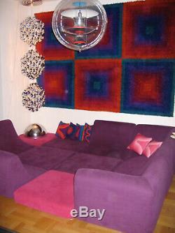Vintage Space Age Panton Colombo Era Mid Century Modern Luigi Colani Pool Sofa
