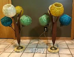 Vintage Spaghetti Lucite Table Lamps Mid Century Modern-$1,600.00 for the Set
