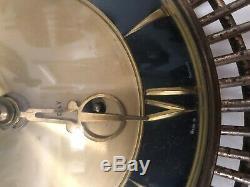 Vintage Starburst Sunburst Mid Century Diehl Wind Up Clock Made in Germany