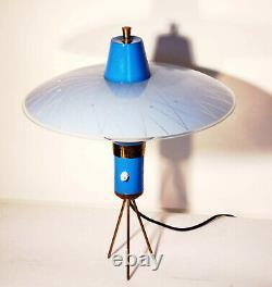 Vintage Tischlampe 50er 60er Jahre Italien Design Stilnovo Arteluce Mid Century