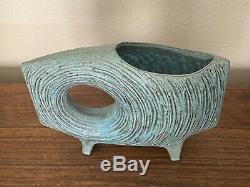 Vintage Toyo Ikebana Vase Mid Century Modern Japan Modernist Pottery Sculpture