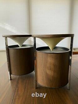 Vintage Zenith Circle of Sound Speakers Mid Century Modern