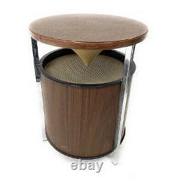Vintage Zenith Speakers Pair MID Century Modern Round Omnidirectional