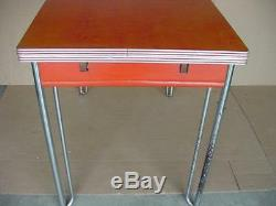 Vintage formica and chrome kitchen table farmhouse country kitchen with2 leaves