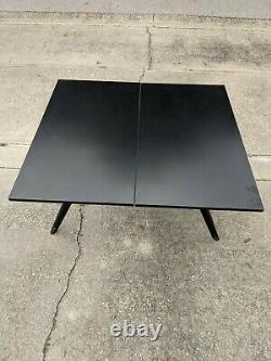 Vintage mid century Castro Convertible black table