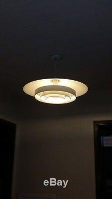 Vintage retro mid century prescolite ceiling light