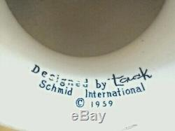 Vtg 1959 LaGardo Tackett egghead condom holder ceramic schmid mid-century mcm