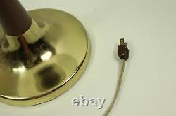 Vtg 50s Mid Century Modern MCM Brass Gerald Thurston Lightolier Table Lamp Light