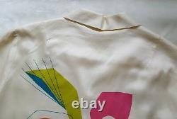 Vtg ALFRED SHAHEEN HAWAII Mid Century Modern 60's 50's Mod Art Shirt Dress Robe