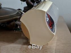 Vtg. Bulova Mini Solari Like Flip Clock Orange Glow Mid Century Modern Eames