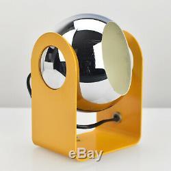 Vtg Design Metal Chrome Table Lamp Gino Sarfatti Style Retro Mid Century Modern